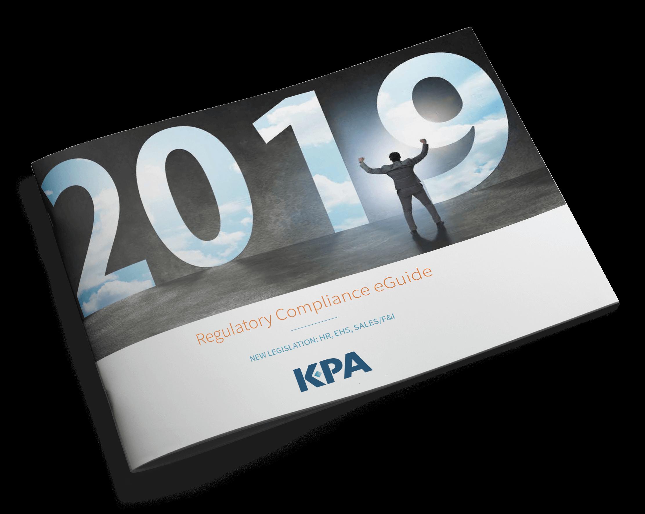 2019 regulatory compliance cover